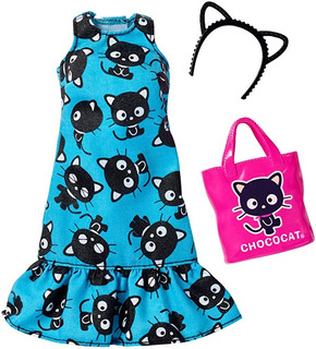 Barbie Moda Hello Kitty Gato Azul Vestido