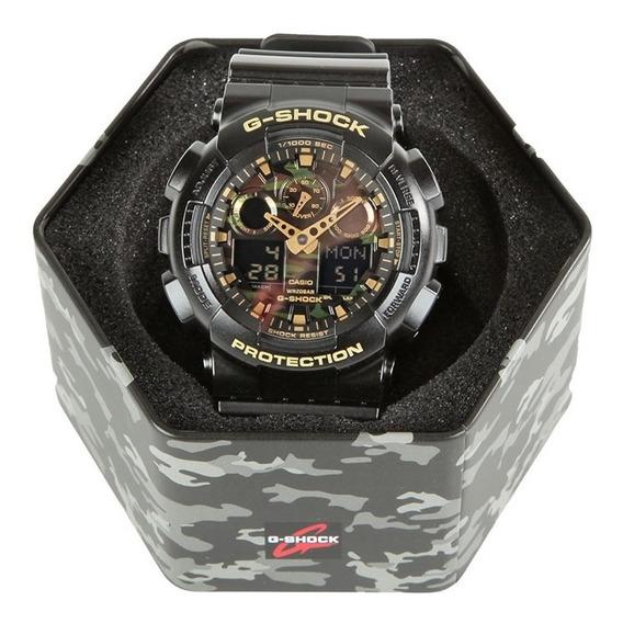 Relógio Casio G-shock Ga 100 Camuflado - Original