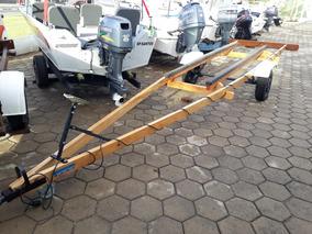 Carreta Para Barco De Aluminio 5 E 6 Metros Rodoviaria
