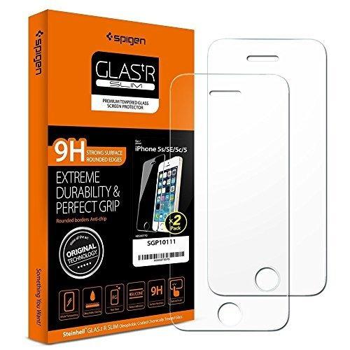 f70ced7d553 Spigen Glas Tr Slim iPhone 5s Protector De Pantalla Con - $ 20.990 en  Mercado Libre