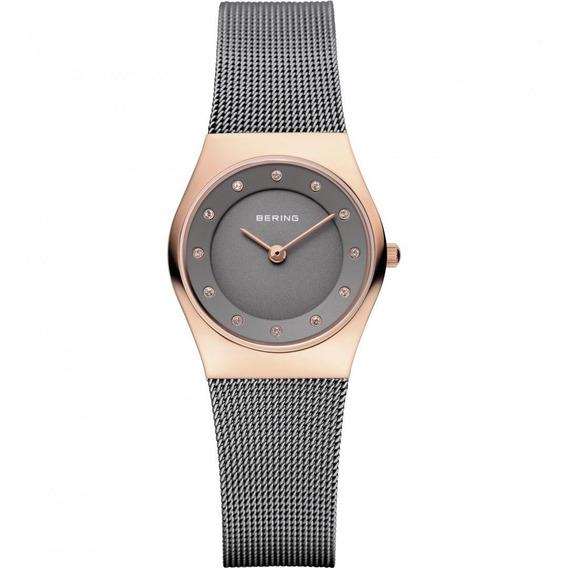 Reloj Bering Classic Acero Inox Gris Cuarzo Mujer 11927-369
