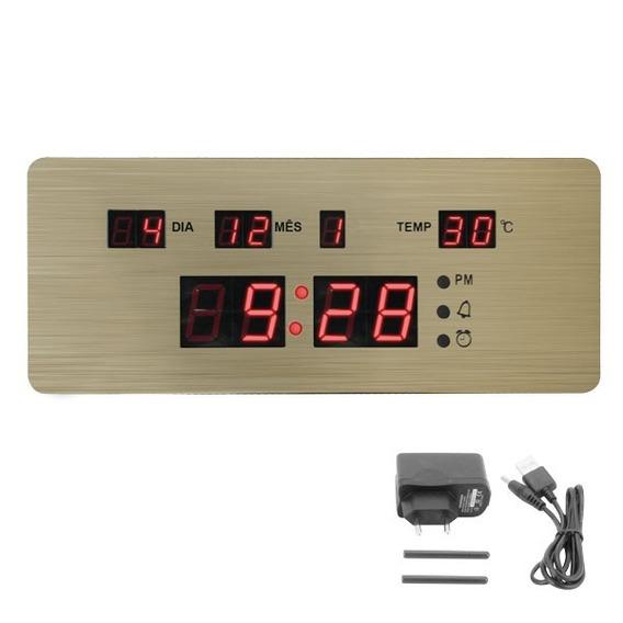 Relógio Mesa Led Digital Termômetro Despertador Data Parede