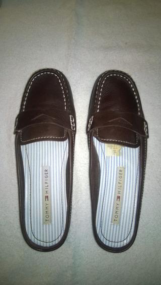 Zapatos Para Dama Tommy Hilfiger Modelo Tw16706 Cafe Oscuro