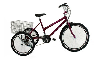 Bicicleta Triciclo Luxo Aro 26 Completo Com 21 Marchas