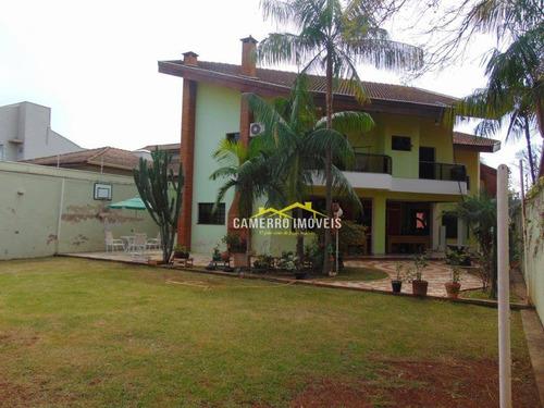 Casa Com 3 Dormitórios, 340 M² - Venda Por R$ 1.850.000,00 Ou Aluguel Por R$ 6.900,00/mês - Parque Residencial Nardini - Americana/sp - Ca1895