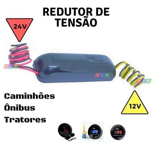 Redutor Tensão 24v - 12v Medidor Temperatura Caminhão Ônibus
