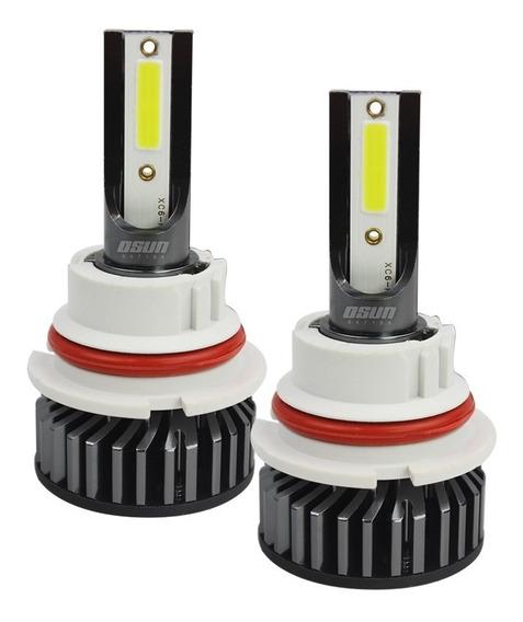 Kit De Led Osun® P1 De Alta Intensidad De Aluminio Para Faros Con Luces Alta Y Baja En El Mismo Foco H4 9007 H13