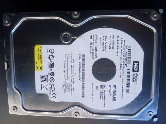 Disco Duro 160 Gb Sata Para Pc Western Digital 7200 Rpm (8v)
