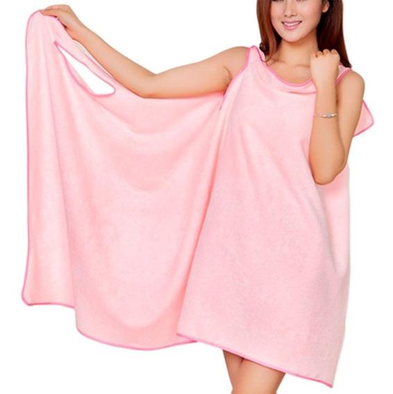 Toalla Vestido De Microfibra Para Mujer Rosa H2040