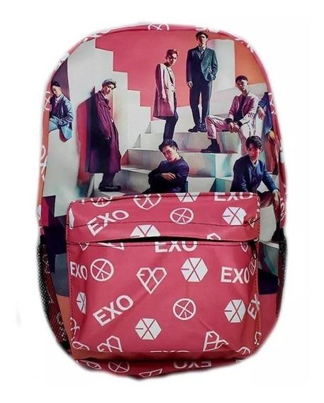 Mochila Escolar Exo K-pop Banda Coreana B099