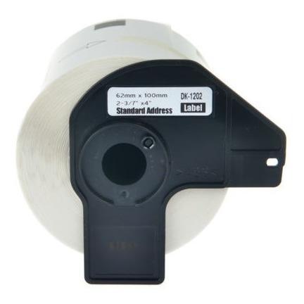 Etiqueta De Papel Blanco De Dk-1202 Envío De 62mm Con Marco