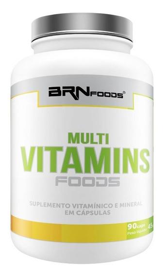 Multi Vitamins Foods 90 Cáps - Brn Foods - 3x Frete Grátis!