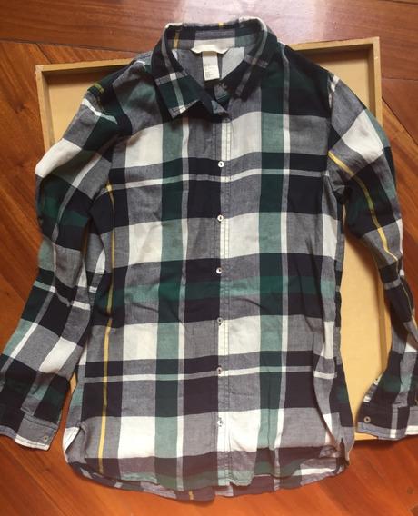 Camisa H&m Cuadrille Talle Us 2 / Xs Como Nueva