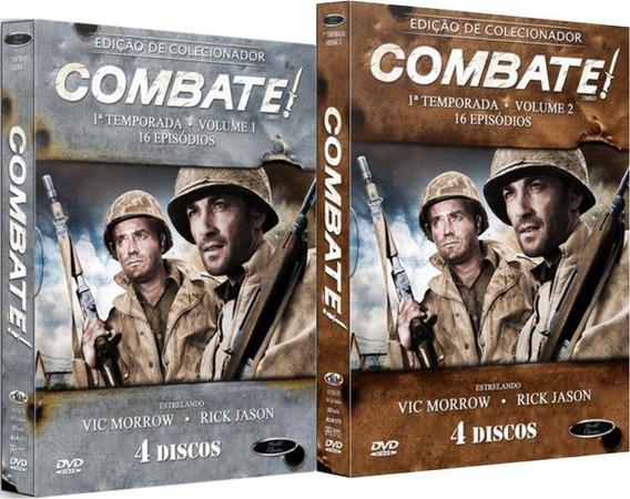 Boxes Dvd Combate! 1ª Temporada Vols. 1 E 2 Lacrados!