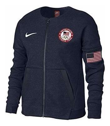 Chamarra Nike U.s.a Equipo Olimpico. Tech Flece Niña Talla M