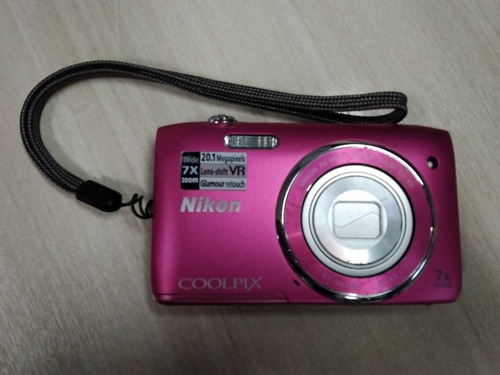Câmera Nikon Coolpix Rosa S3500