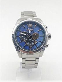 Relógio Condor Aço Visor Azul Jeans Cronograf Covd33ag/3a