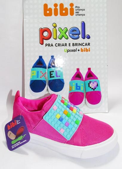 Tênis Infantil Bibi Menina Pixel - Pink - 1075003