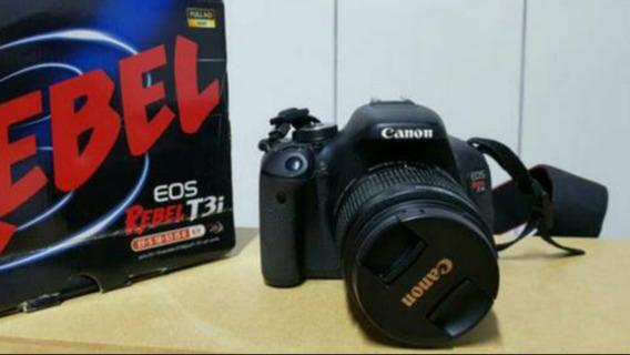Canon T3i + 18-55mm + Caixa Com Acessórios