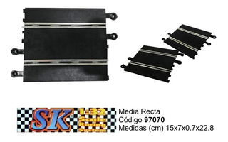 Media Recta Compatible Scalextric 1/32 Sk 97070