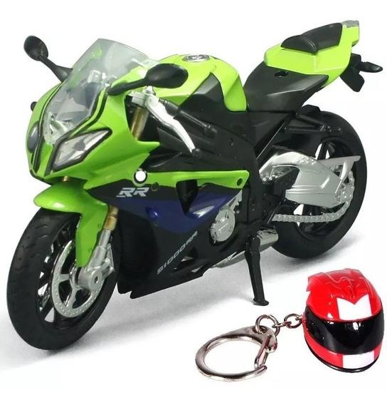 Bmw S1000rr Moto Diecast Mini Coleção 1:12 Ñ Maisto Verde