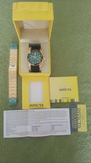 Relógio Invicta Pro Diver Com 2 Pulseiras A Prova D