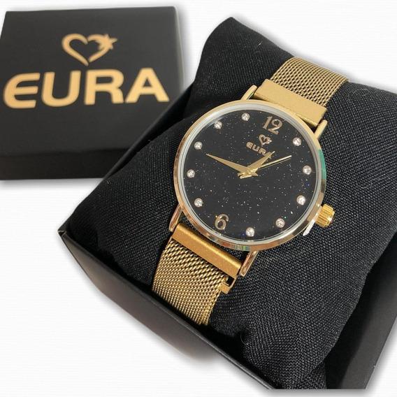 Relógio Eura Metal Feminino Magnético Promoção Presente