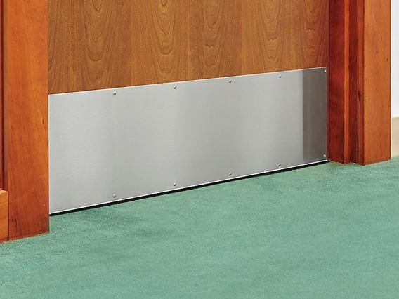 1 Placa De Acero Inoxidable De 10x34 Para Proteccion Puertas