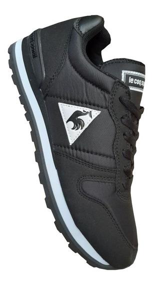 Tenis Lecoq Sportif Todo Negro Hombre Zapatillas Importadas