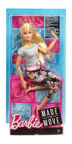 Boneca Barbie Feita Para Mexer - Aula De Yoga