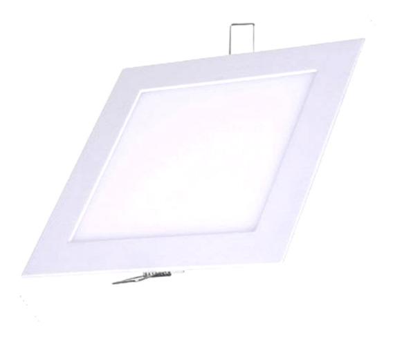 Painel Led Plafon Embutir Slim Quadrado 25w Branco Frio