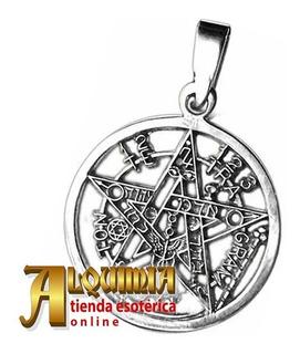 Pentagrama En Plata 3cm Diámetro Magia Y Brujeria