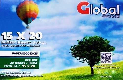 Papel Fotografico Glossy A5 15 X 20 200 Gramos X 1000 15x20