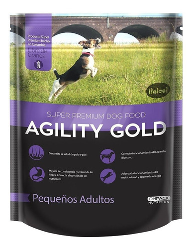 Imagen 1 de 1 de Agility Gold Pequeños Adultos X 3 Kg - kg a $18500