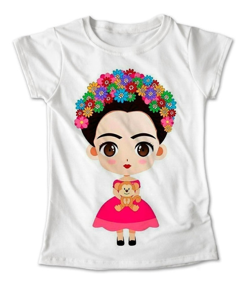 Blusa Frida Kahlo Colores Playera Estampado Rosa 017