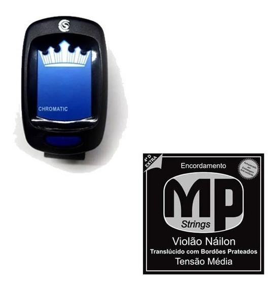 Afinador Digital Cromático + Encordoamento Mp Oferta!