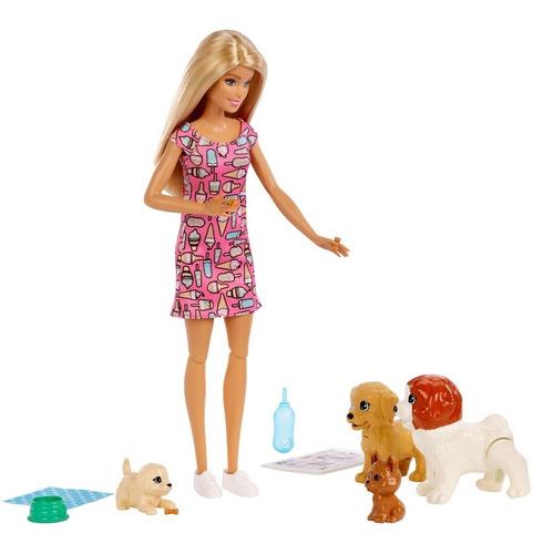 Barbie Guarderia De Perritos Doggy Daycare Mattel Fxh08