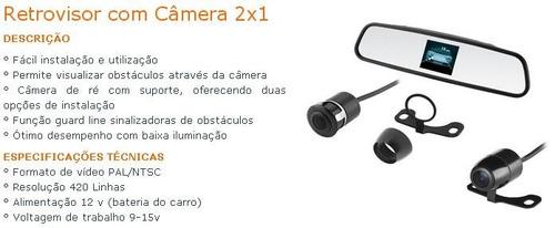 Retrovisor Com Câmera De Ré