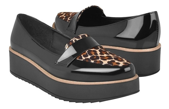 Zapatos Casuales Para Dama Stylo 4554 Ngo/leopardo