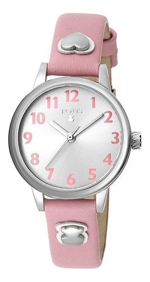 Reloj Dreamy De Acero Con Correa De Piel Rosa Tous