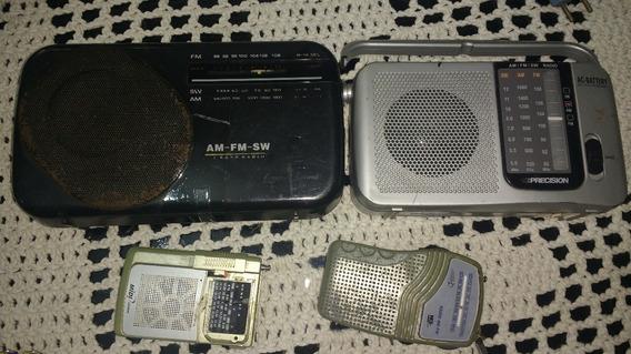 Lote Com 4 Rádios - Ler Descrição