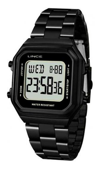 Relógio Lince Masculino E Feminino Sdn617l Bxpx Preto