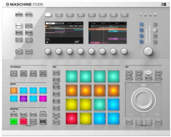 Controlador Sampler Maschine Studio White Native Instruments
