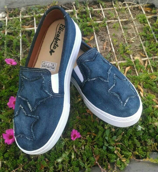 Tenis Feminino Star Jeans Slip On