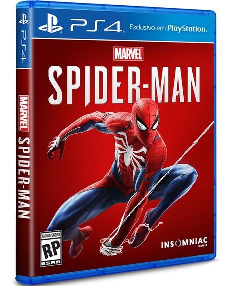 Jogo Spiderman Ps4 Midia Fisica Cd Original Lacrado Dublado