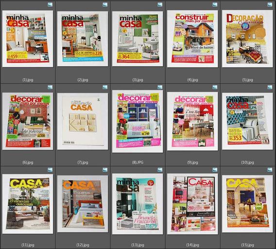 Várias Revistas Decora Arquitetura Casa Cláudia Jardim *cada