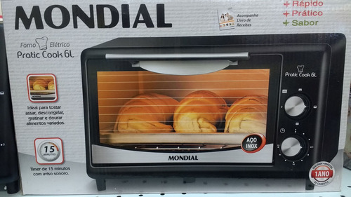 Forno Elétrico Mondial Pratic Cook 6 Litros