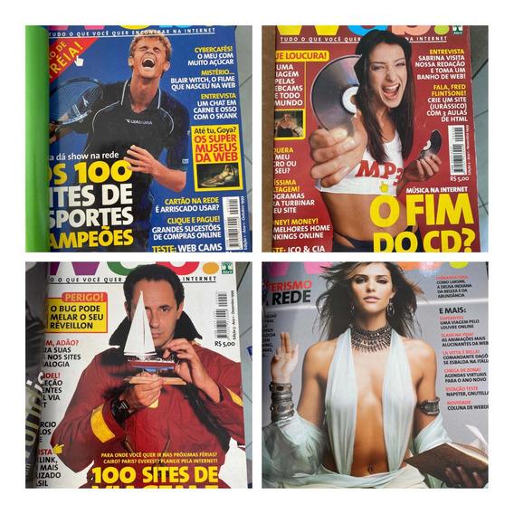 Revista Da Web Kit Com 07 Revistas. Encadernado.