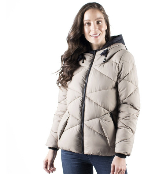 Chamarra Mujer Invierno Greenlander Pol6712 Gorro Ajustable