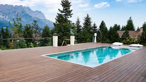 Piso Madera Premium Bambu Deck Exterior Instalacion Fácil